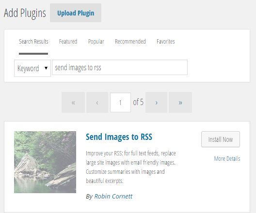 Install Send Images to RSS