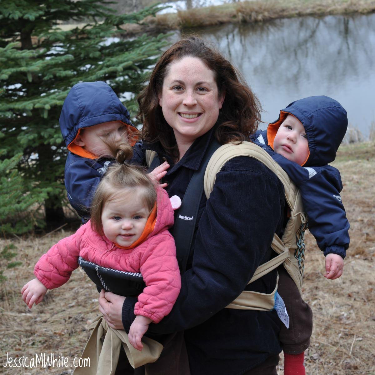 Jessica M. White Babywearing Triplets