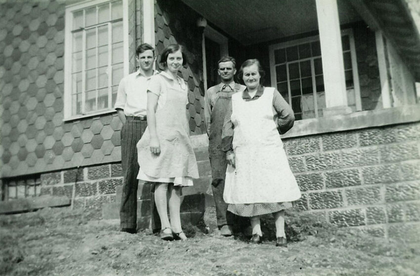 Herbert and Alma with Alma's parents Sam and Marie (1929)