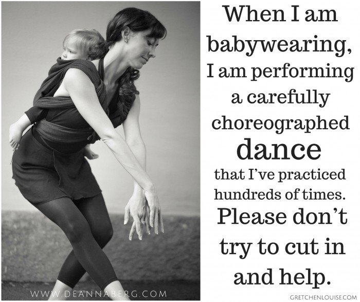 Don't cut in on the babywearing dance. (Photo of Wear Your Baby Ballet by Deanna Berg)