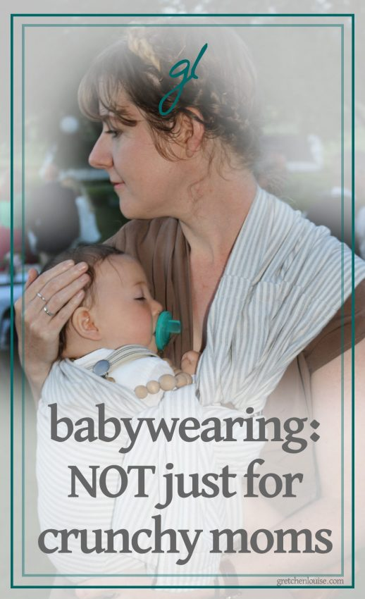 I assumed that my lack of total crunchiness precluded me from babywearing. I couldn't have been more wrong. I learned that babywearing transcends cultures and parenting styles. Babywearing is for every mom and dad (aunts and uncles, grandparents and babysitters, too!); it adapts to every family's needs.