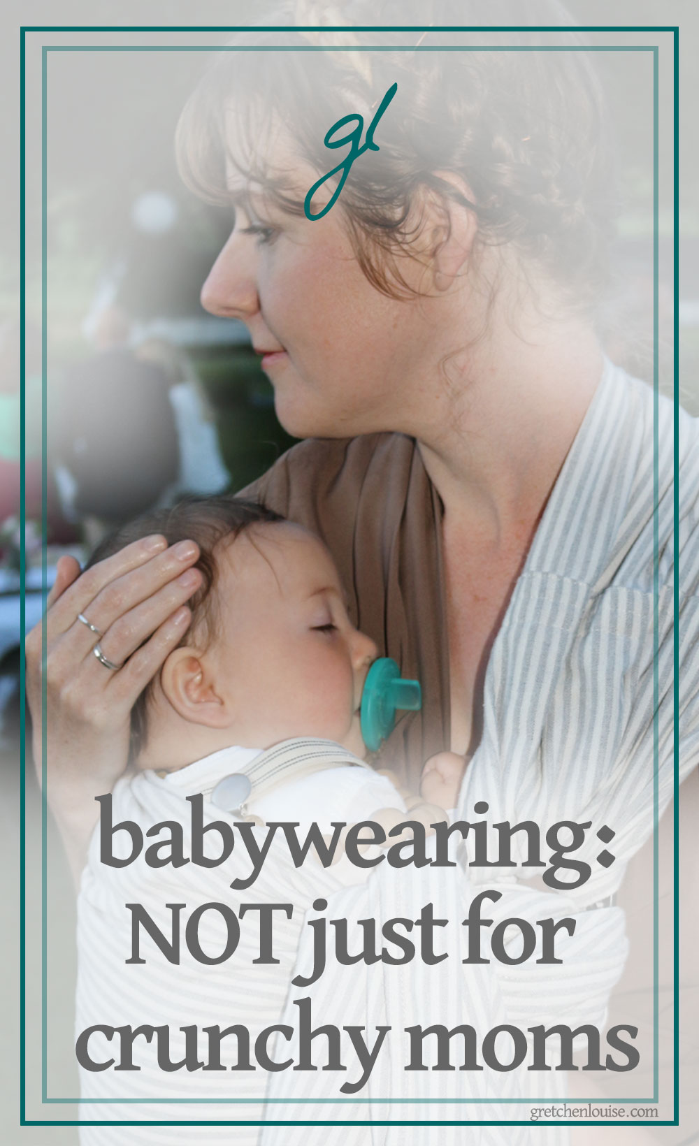 I thought babywearing was just for all-natural moms who practiced attachment parenting.I couldn't have been more wrong.I learned that babywearing transcends cultures and parenting styles. Babywearing is for every mom and dad (aunts and uncles, grandparents and babysitters, too!); it adapts to every family's needs. via @GretLouise