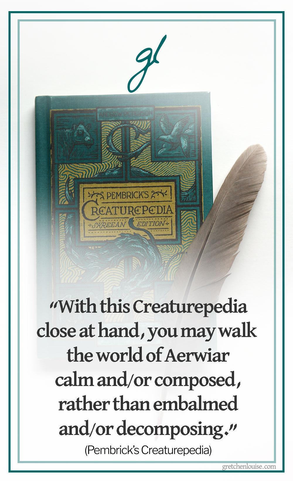 Pembrick'sCreaturepedia: a classification via @GretLouise