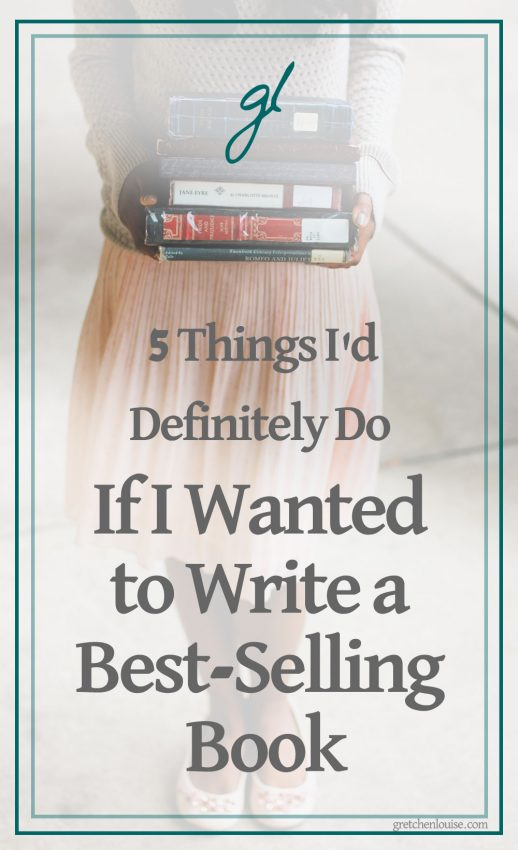 Wondering if you have a best-selling book in you? Interested in getting it traditionally published? Here are 5 things I'd definitely do if I wanted to write a best-selling book.