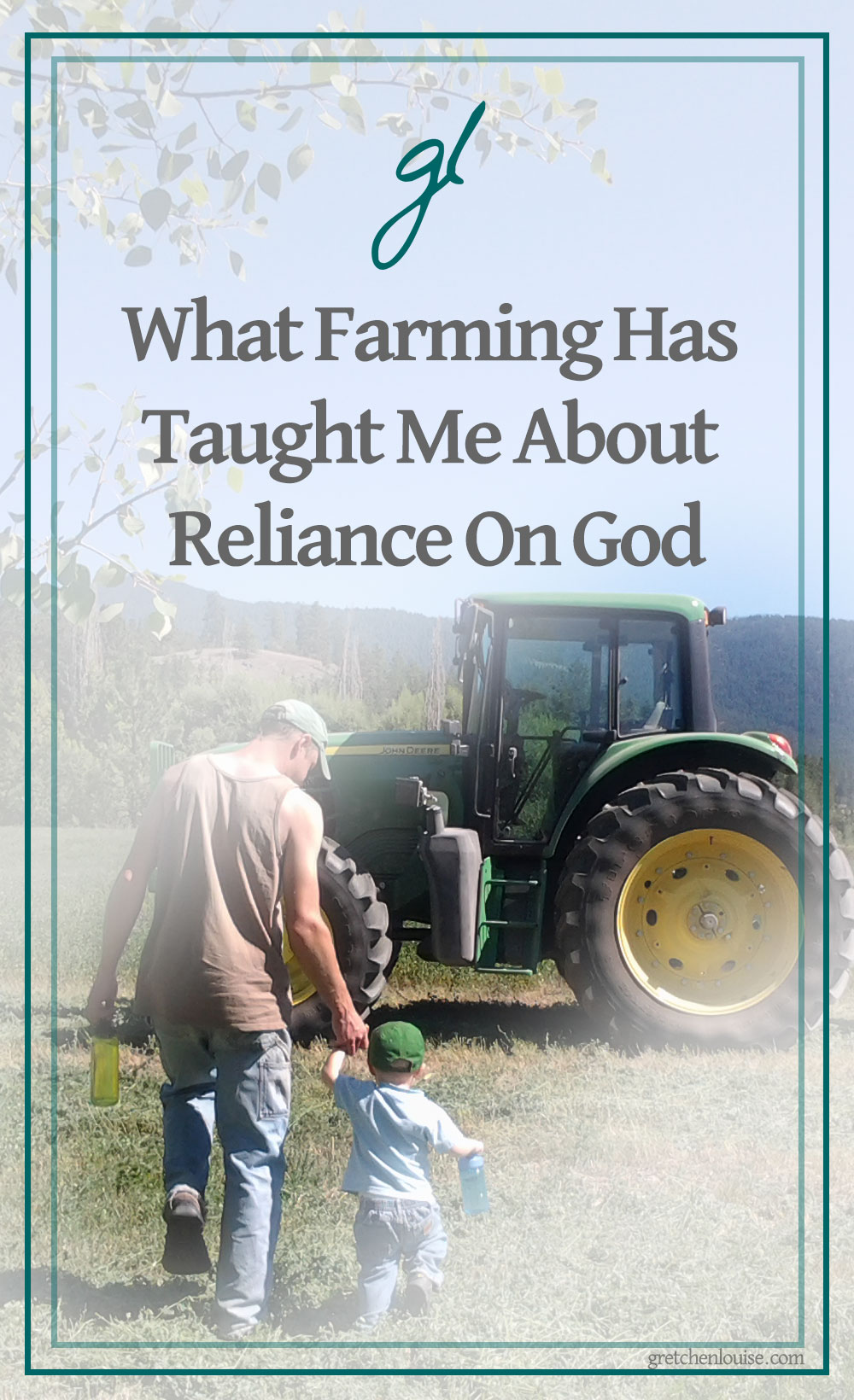 Farmers aren't really any more reliant on God than any other profession, but sometimes, we feel a lot more aware of our reliance on Him.  via @GretLouise