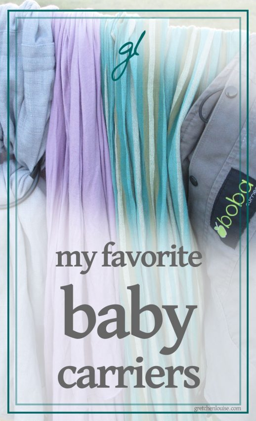 favorite carriers from my babywearing stash