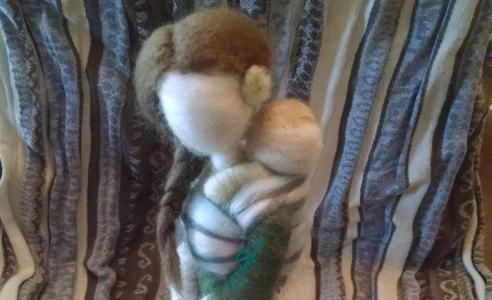 Radish Wool Works Felted Babywearing Figures