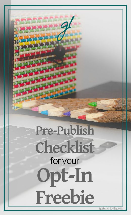 Pre-Publish Checklist for Your Opt-In Freebie