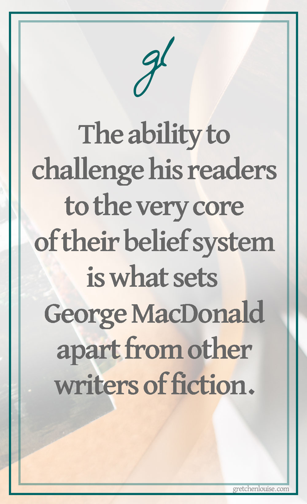 "The ability to challenge his readers to the very core of their belief system is what sets MacDonald apart from other writers of fiction. Far from ""fluff,"" his stories are deep and thought provoking, begging for a response."