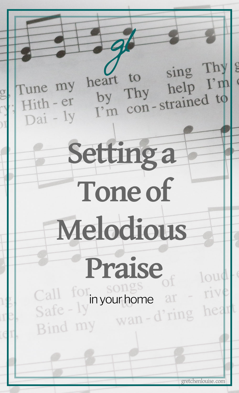 I know that out of the overflow of the heart, the mouth speaks. Listening to myself speak has made me realize that my heart is in need of some more regular tuning. But when I purpose to set a positive tone of praise in my home, it makes a difference. #AggiesInheritance via @GretLouise