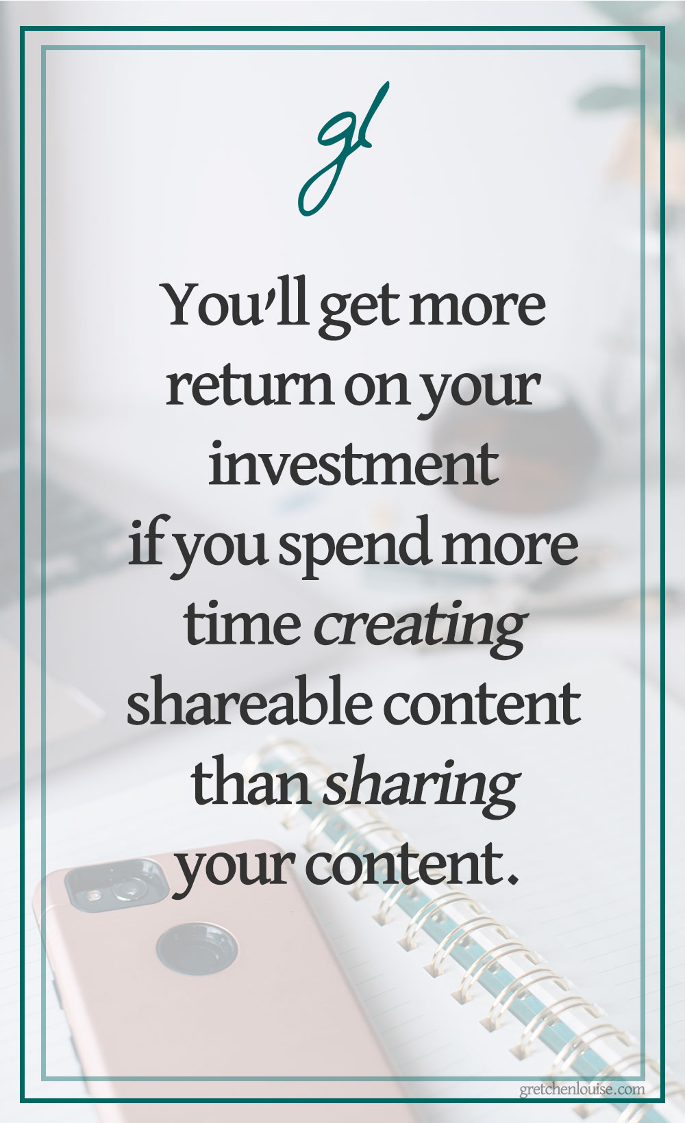 If you're a smart blogger, you know you'll get more return on your investment if you spend more time creating shareable content than sharing your content.
