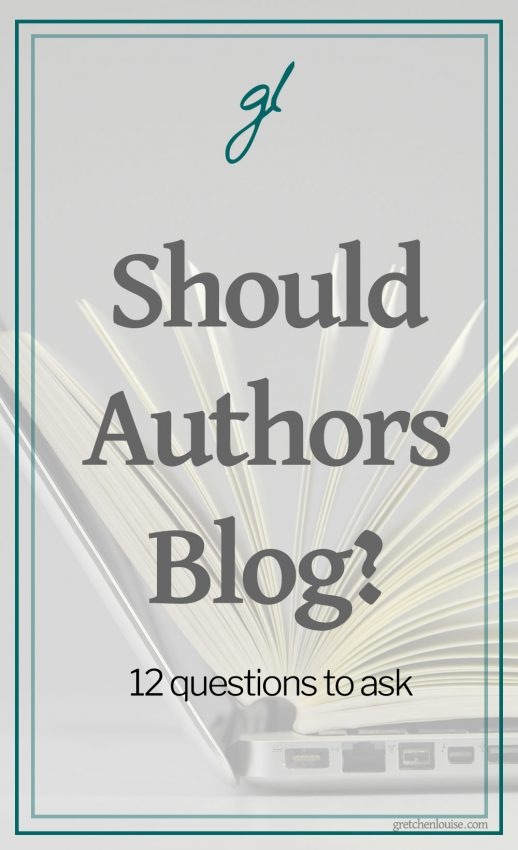 "Every author should be online. But not every author should blog. Here are twelve questions to ask as you consider the real question: ""Should I, as an author, blog?"""