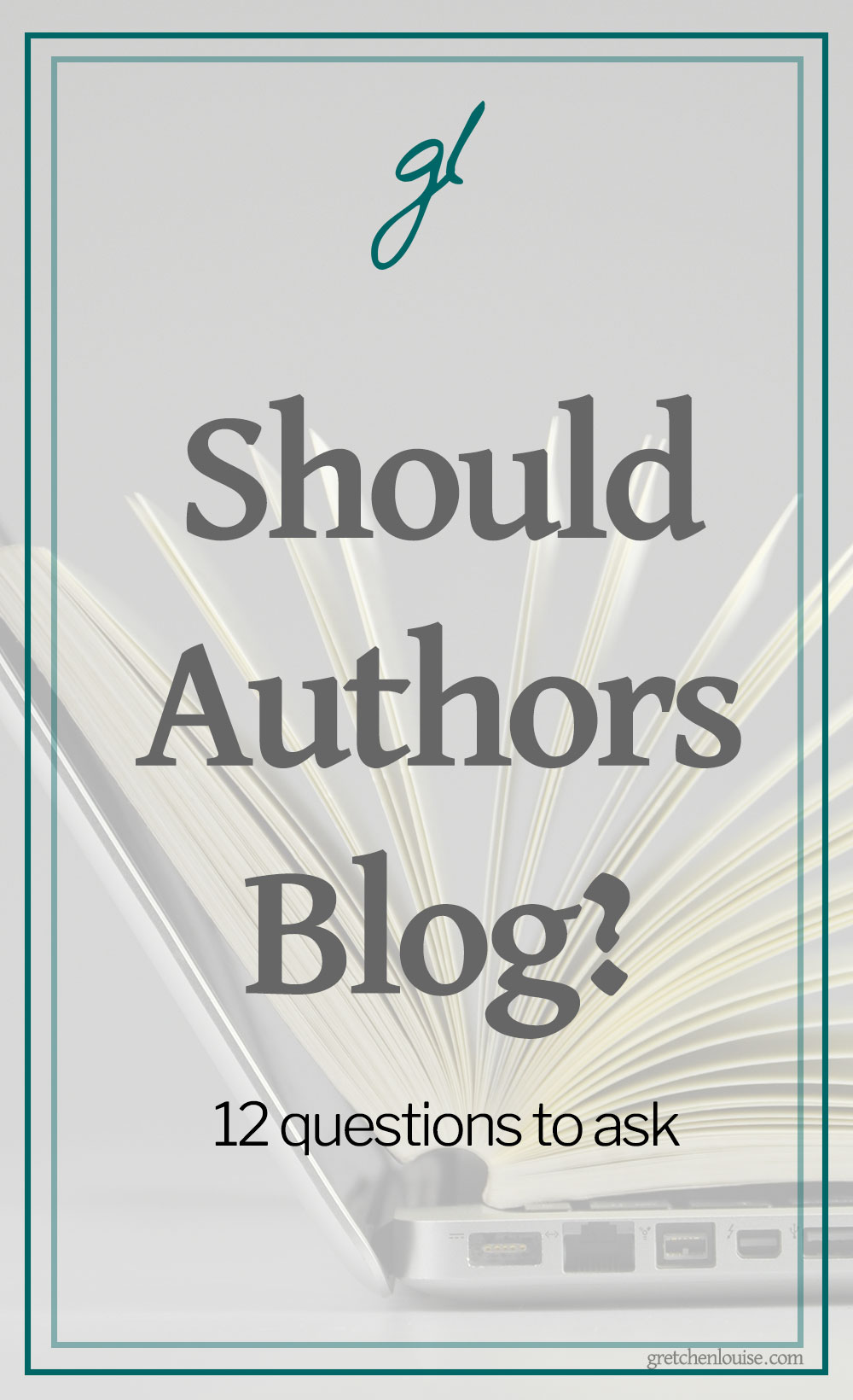 "Every author should be online. But not every author should blog. Here are twelve questions to ask as you consider the real question: ""Should I, as an author, blog?"" via @GretLouise"