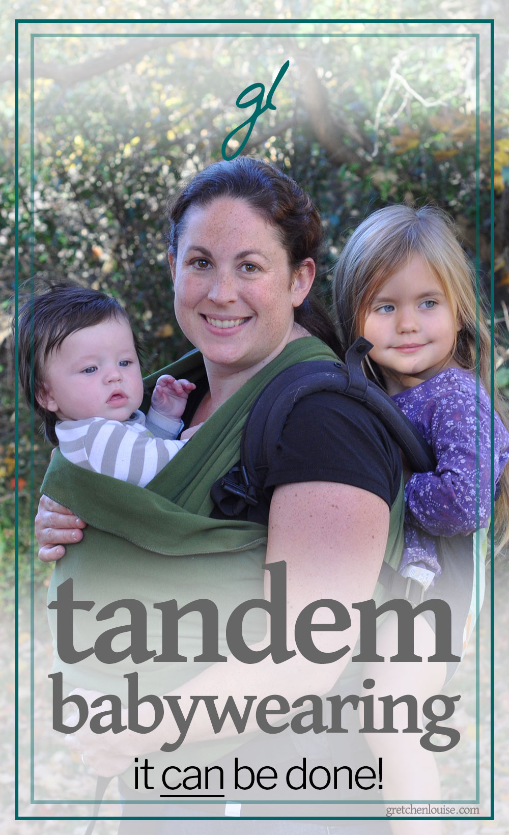 Necessity is often the mother of invention, but for mothers, invention becomes a necessity. It is that necessity that took me down the path of tandem babywearing with multiples.