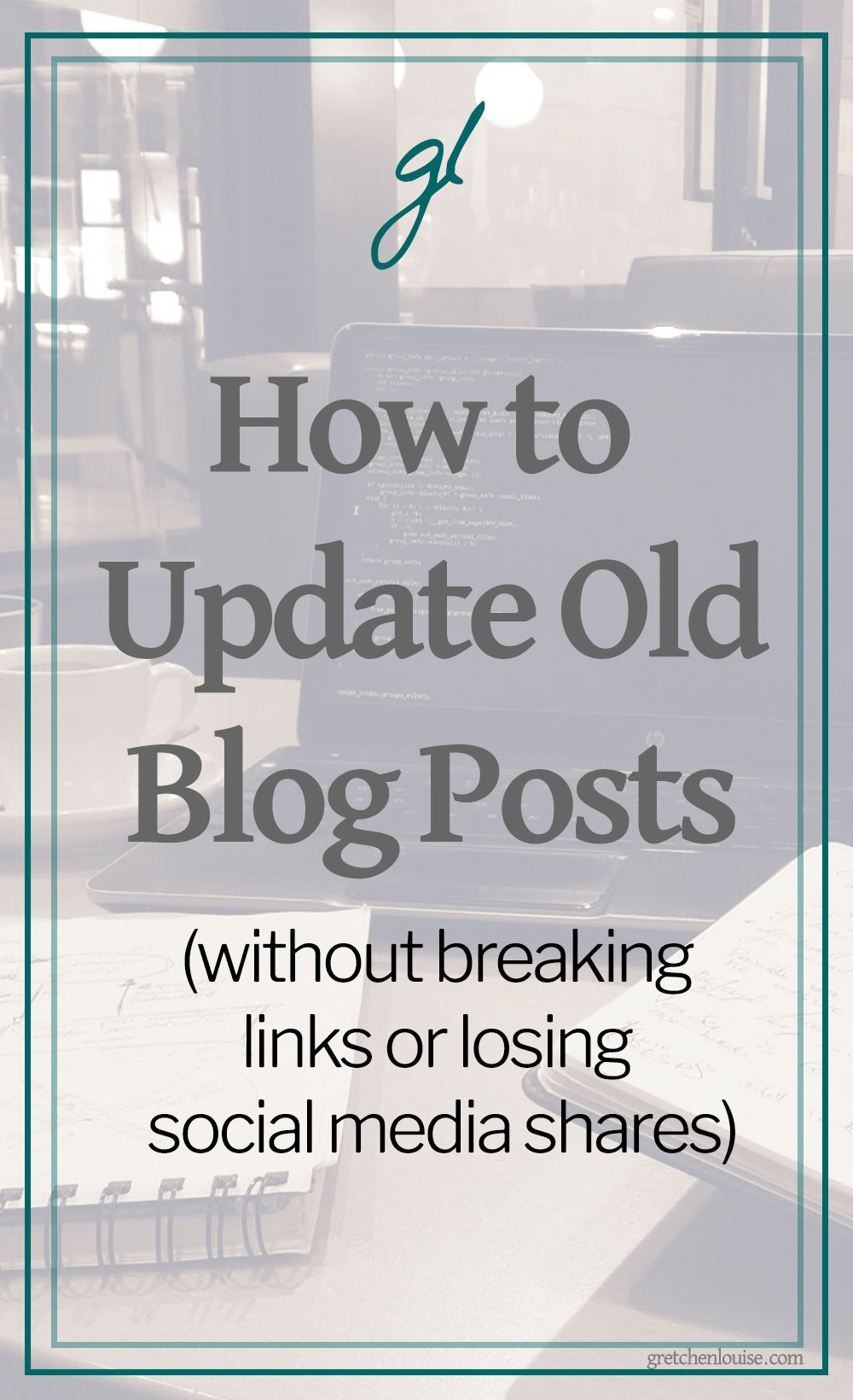Want to make changes to old blog posts? Need to republish a post from the archives? I'll show you how to do it without breaking any links or losing your social media share counts! via @GretLouise